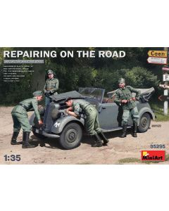 Plastbyggesett, miniart-35295-repairing-on-the-road-scale-1-35, MIA35295