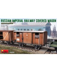 Plastbyggesett, miniart-39002-russian-imperial-railway-closed-freight-car-scale-1-35, MIA39002