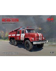 Plastbyggesett, icm-35519-ac-40-137a-soviet-firetruck-scale-1-35, ICM35519