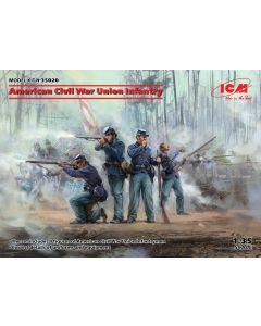 Plastbyggesett, icm-35020-american-civil-war-union-infantry-scale-1-35, ICM35020
