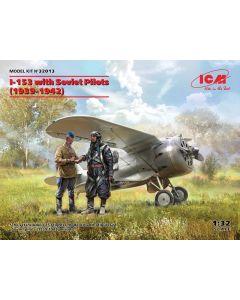 Plastbyggesett, icm-32013-i-153-with-soviet-pilots-scale-1-35, ICM32013
