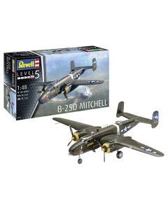Plastbyggesett, revell-04977-b-25d-mitchell-scale-1-48, REV04977