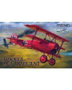 Plastbyggesett, meng-qs-002-fokker-dr-1-triplane-red-baron-scale-1-32, MNGQS002