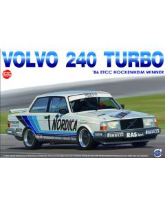 Plastbyggesett, beemax-nunu-model-kit-24013-volvo-240-turbo-1986-etcc-hockenheim-winner-scale-1-24, NUNU24013