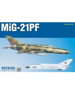 Plastbyggesett, eduard-7455-mig-21-pf-weekend-edition-scale-1-72, EDU7455