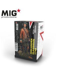 Plastbyggesett, Highlander Clansman 90mm, MPR90151
