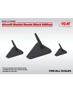 Plastbyggesett, Aircraft Model stands ( Black Edition) All Scales, ICMA002