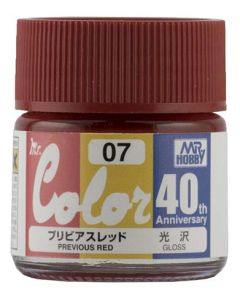 Mr. Hobby, mr-hobby-avc-07-40th-anv-previous-red-10-ml-mr-color, MRHAVC07