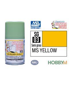 Mr. Hobby, mr-hobby-sg-03-ms-yellow-100-ml-gundam-color-spray, MRHSG03