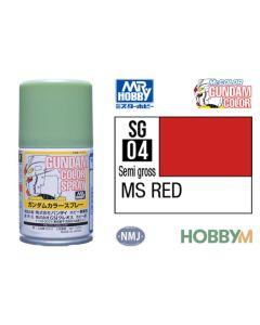 Mr. Hobby, mr-hobby-sg-04-ms-red-100-ml-gundam-color-spray, MRHSG04