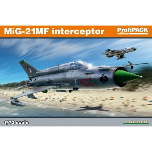 Plastbyggesett, eduard-70141-mig-21mf-interceptor-scale-1-72, EDU70141