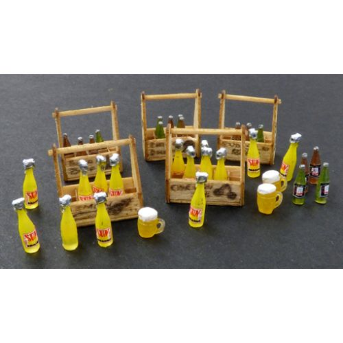 Plastbyggesett, Beery and lemonade crates 1/35, PLM422