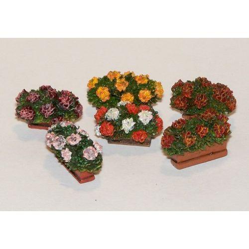 Plastbyggesett, Flowers in boxes 1/35, PLM377