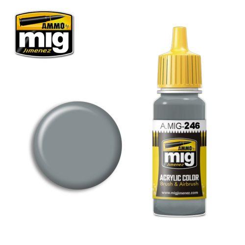 Mig Akrylmaling, ammo-by-mig-jimenez-0246-medium-sea-grey-bs-637-acrylic-paint-17-ml, MIG0246