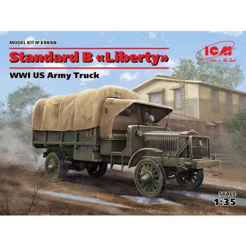 Plastbyggesett, icm-35650-standard-b-wwi-us-army-truck-liberty, ICM35650