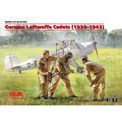 Plastbyggesett, icm-32103-german-luftwaffe-cadets-1939-1945-scale-1-32, ICM32103