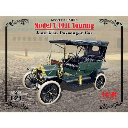 Plastbyggesett, icm-24002-model-t-1911-touring-scale-1-24, ICM24002