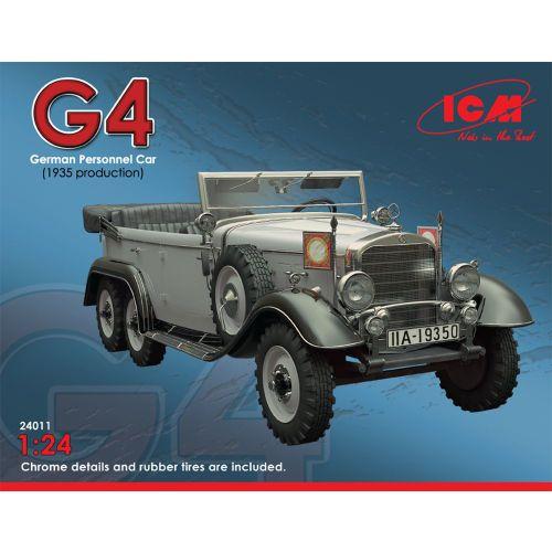 Plastbyggesett, icm-24011-w31-g4-german-personnel-car-1935-production-scale-1-24, ICM24011