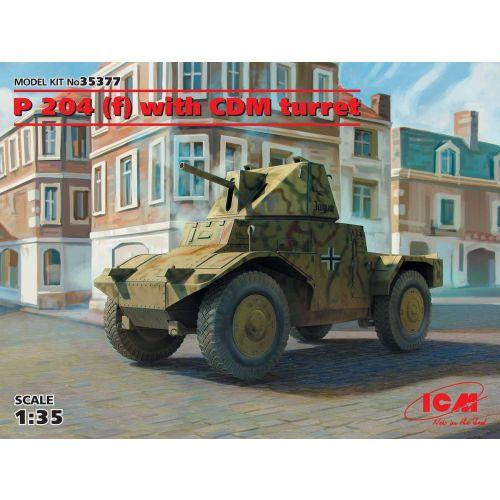 Plastbyggesett, icm-35377-p-204-f-with-cdm-turret-scale-1-35, ICM35377