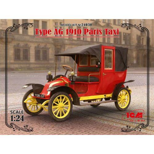 Plastbyggesett, icm-24030-paris-taxi-type-ag-1910-scale-1-24, ICM24030