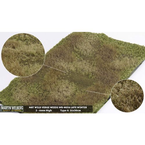 Gressmatter, Gressmatte, Wild Verge Weeds, Vinter #2, 30 x 21 Cm, MWB-M034