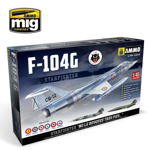 Plastbyggesett, ammo-by-mig-jimenez-mig-8504-startfighter-f-104-g-norwegian-331-version-scale-1-48, MIG8504