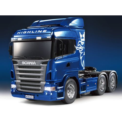 Tamiya RC Lastebil, tamiya-23674-600-scania-r620-highline-6x4-full-option-ready-made-version-blue-metallic-scale-1-14, TAM23674