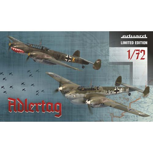 Plastbyggesett, eduard-2132-adlertag-bf-110-c-d-battle-of-britain-limited-edtion-scale-1-72, EDU2132