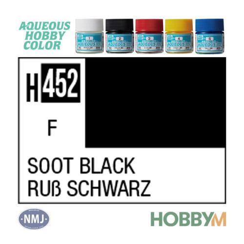 Mr. Hobby, mr-hobby-h-452-sooth-black-10-ml-aqueous-hobby-color, MRHH452
