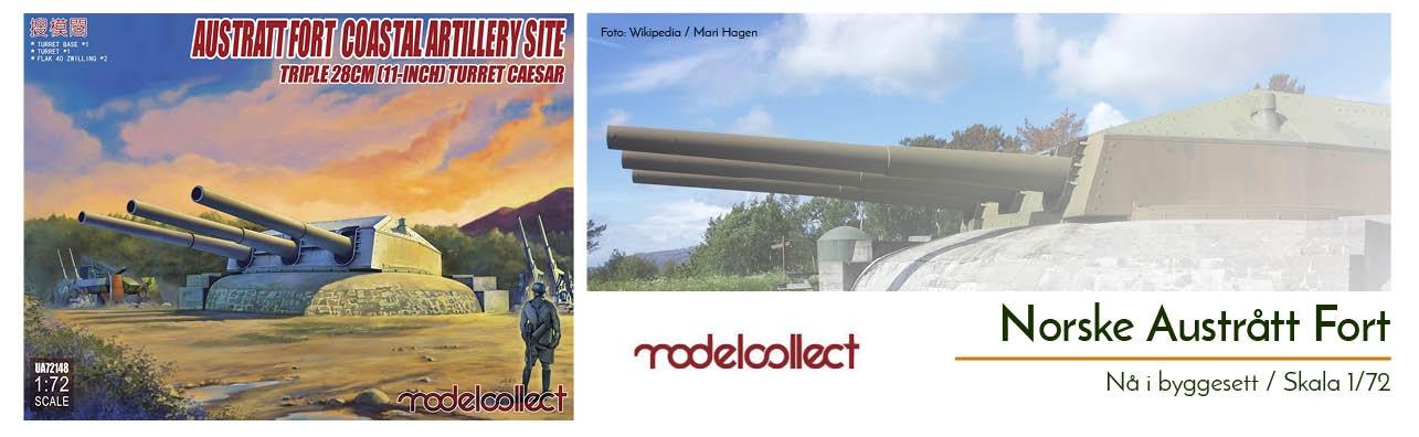 Austrått Kystfort Artilleri - nå som byggesett