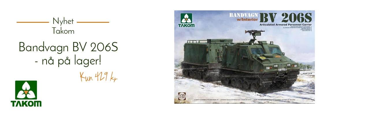 Takom 2083 Heglund Bandvagn Bv 206S - nå på lager